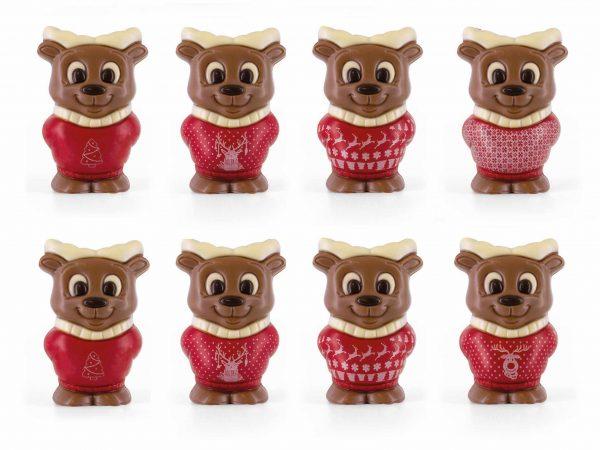 Assortment chocolate Moose printed Christmas sweater Belfine ChocDecor