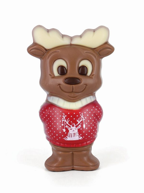 Chocolate moose printed Christmas sweater Belfine ChocDecor