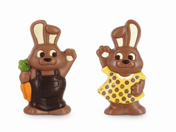Easter chocolate bunny carrot printed dress Belfine