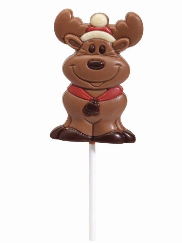 Chocolate reindeer lollipop Christmas Belfine ChocDecor