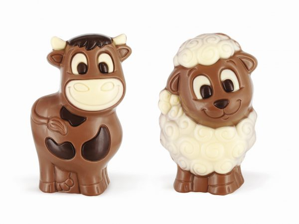 sheep cow chocolate figurine Easter Belfine ChocDecor