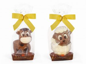 sheep cow chocolate figurine Easter Belfine ChocDecor bag