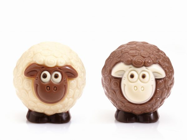 sheep lamb chocolate figurine Easter Belfine ChocDecor