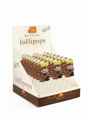 Black Peter chocolate lollipop Saint Nicholas Belfine
