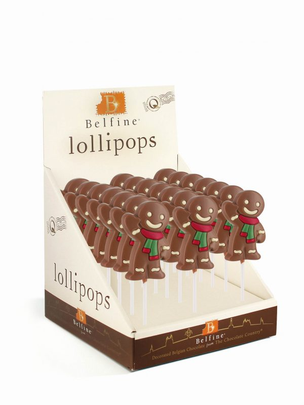 Gingerbread chocolate lollipop Christmas Belfine ChocDecor