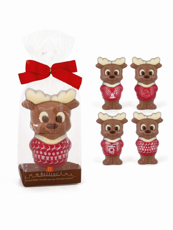 Reindeer moose chocolate figurine Christmas Belfine ChocDecor