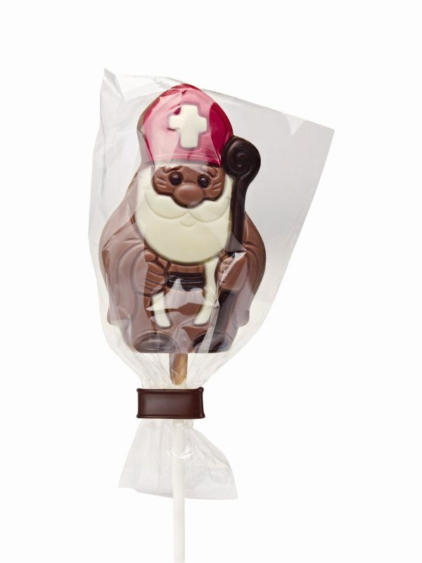 Saint Nicholas chocolate lollipop Belfine ChocDecor
