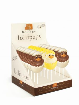 chick chocolate lollipop Easter Belfine ChocDecor