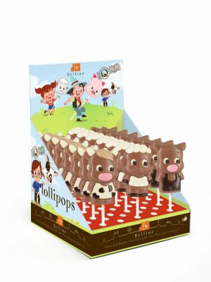 cow sheep pig chocolate lollipop Belfine ChocDecor