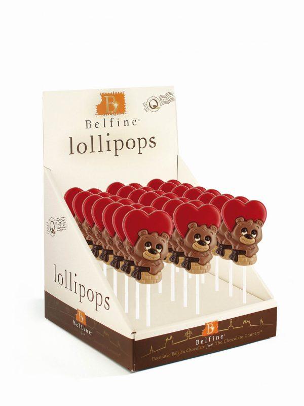 love bear chocolate lollipop Valentine Belfine ChocDecor