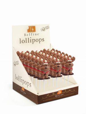 Reindeer chocolate lollipop Christmas Belfine ChocDecor