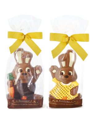 Milk chocolate bunnies printed Easter Belfine ChocDecor