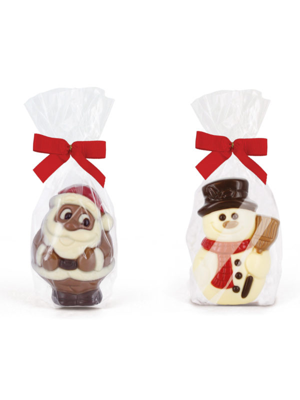 Chocolate snowman Santa claus Christmas Belfine ChocDecor