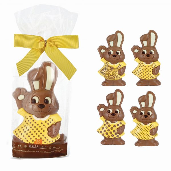 Easter chocolate bunny printed dress Belfine