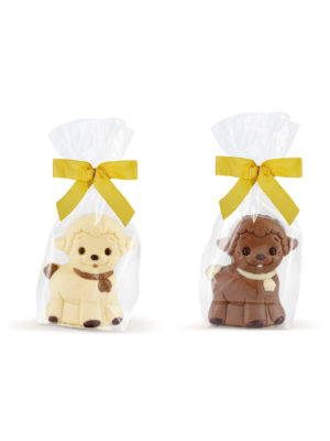 Decorated milk white chocolate lamb sheep Easter Belfine ChocDecor