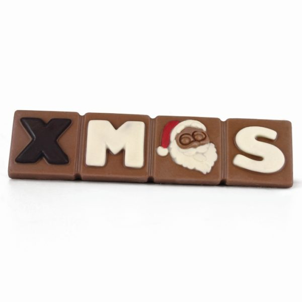 Decorated Christmas milk chocolate bar Belfine