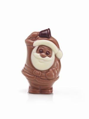 Chocolate Santa with bell Christmas Belfine