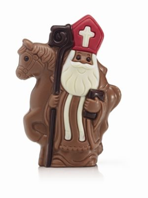 Chocolate Saint Nicholas with horse Belfine