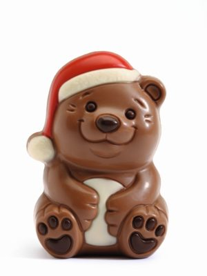 Decorated chocolate bear Belfine Christmas