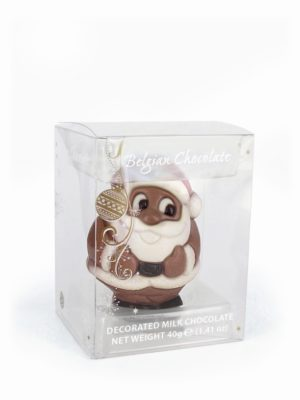 Belfine Christmas chocolate figurine Santa Claus gift